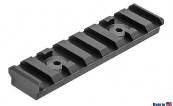 Leapers UTG PRO M-LOK 8-Slot Picatinny Rail Section Black MTURS09M